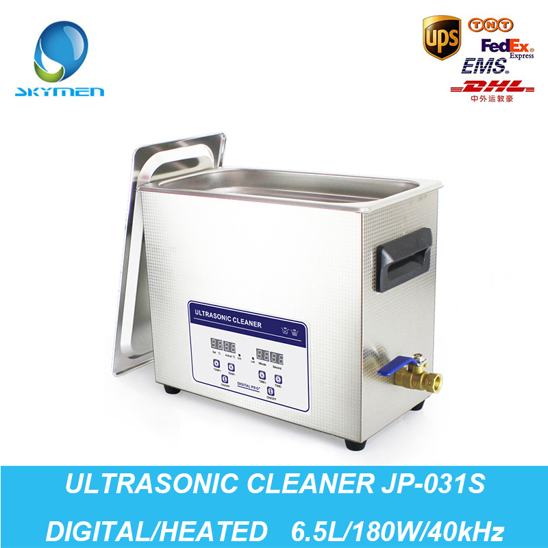 Digital Ultrasonic Cleaner 6.5L 180W 40kHz Lavatrice Ultrasuoni Ultrasoon Reiniger Heated Industry Ultrasonic Cleaner Bath(China (Mainland))