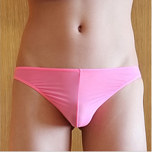 Mens Underwear Briefs Penis Pouch Silk Sheer Male Panties Slip Gay Low Waist Sexy Seamless Underpants Calzoncillos Hombre Slips(China (Mainland))