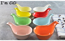 Ceramic whitest multicolour dessert mould  bake bowl  sauce spoon(China (Mainland))