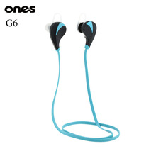Ones Bluetooth 4.0 Headset Sports Handsfree In Ear Stereo Earphone Wireless Sweatproof For iPhone Samsung HTC Nokia G6 Original