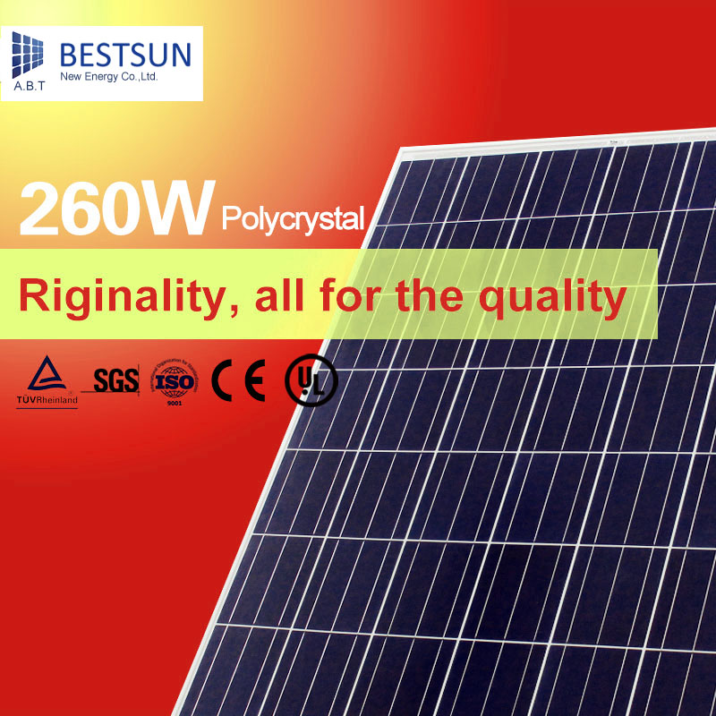260W poly and mono professional photovoltaic solar panel manufacturers in China(China (Mainland))
