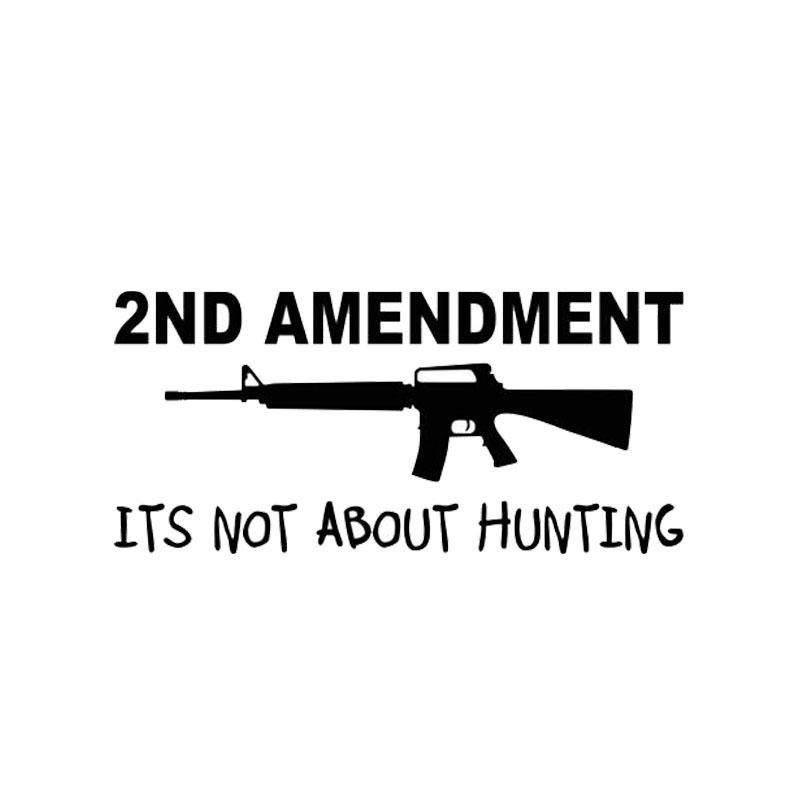 21.5cm*10cm 2nd Amendment - Its Not About Hunting Gun Funny Car Stickers Fashion Personality C3-0153(China (Mainland))