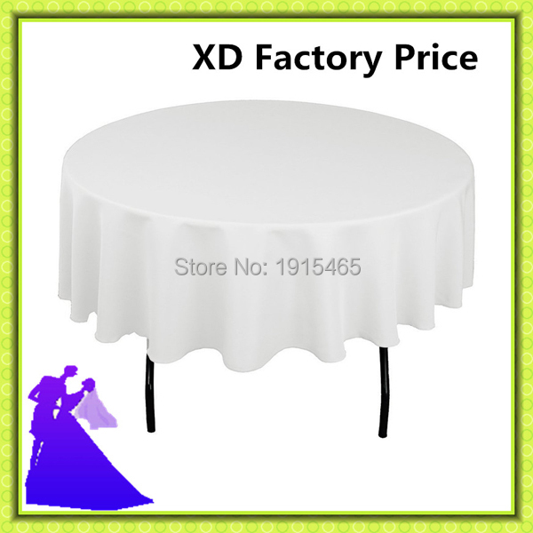 2016 sale promotion !!! 20pcs white 70inch polyester table cloth for banquet, event FREE SHIPPING(China (Mainland))