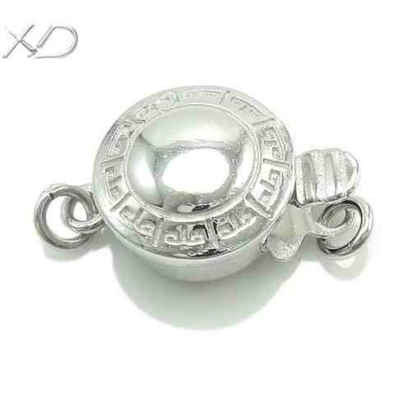 XD 925 sterling silver jewelry box clasp unique pearl necklace clasp accessories for diy jewelry making P349(China (Mainland))