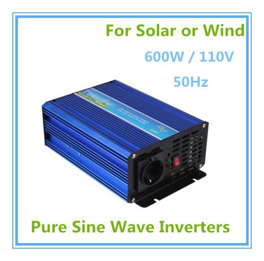 Hot Sale! High Quality High Cost Performance 600W 110V 50Hz Pure Sine Wave Solar or Wind Inverter, Input 110V DC BP-I-CZ-600S<br>