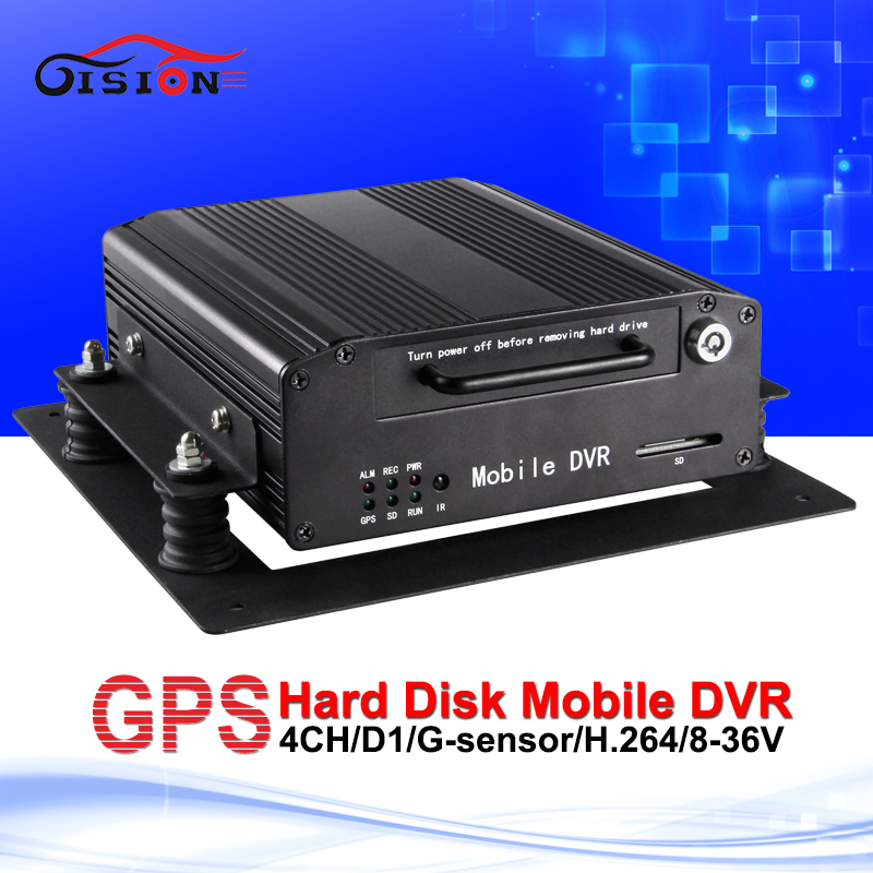 H.264 GPS Hard Disk Mobile Dvr 12V D1 Black Box Monitoring Equipment G-Sensor I/O Cycle Recording Automotive Recorder Car Dvr(China (Mainland))