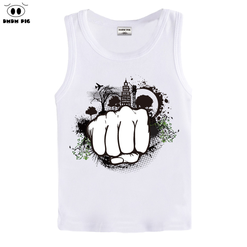 DMDM PIG Baby Boys T Shirt 2015 New Arrival Kids Gray Cotton Summer sleeveless tops tees Infant Cute Charactor Cloth(China (Mainland))