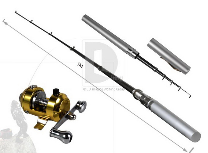 super strong alloy telescopic collapses fishing rod rods pole, Hard Baits
