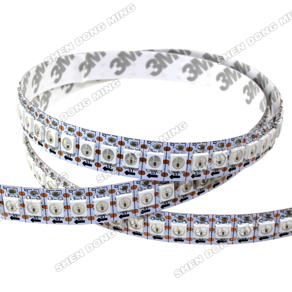 100m WS2812 led strip pixel,144led 144IC/m DC5V built-in IC white/black PCB led digital strip CE and RoHS approved neon light(China (Mainland))