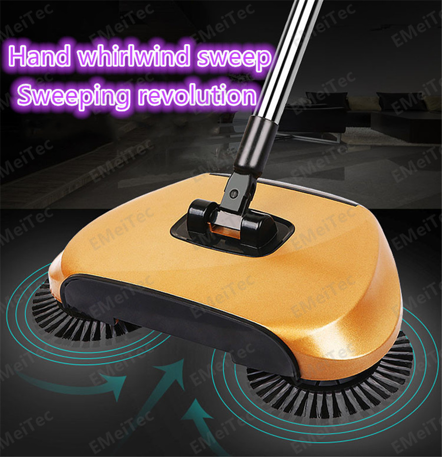 2016 new Lazy household cleaning without electricity automatic hand push sweeper broom magic broom dustpan combination package(China (Mainland))