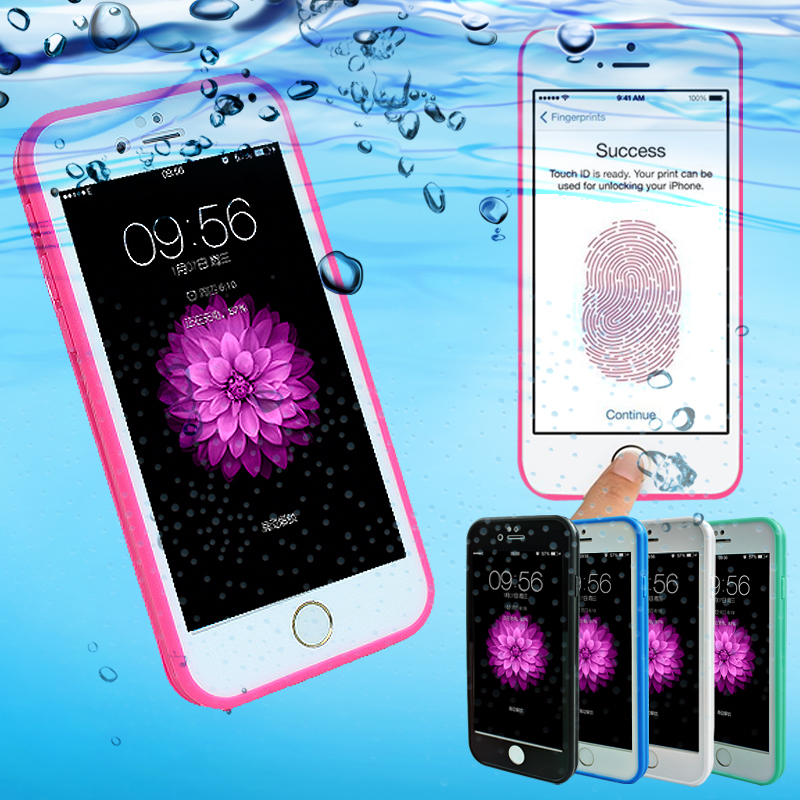 Luxury Waterproof Shockproof Soft Silicone TPU Rubber Life Dirt Proof Cover For iPhone 5 5s 6 6s 7 Plus Protective Case Bag(China (Mainland))