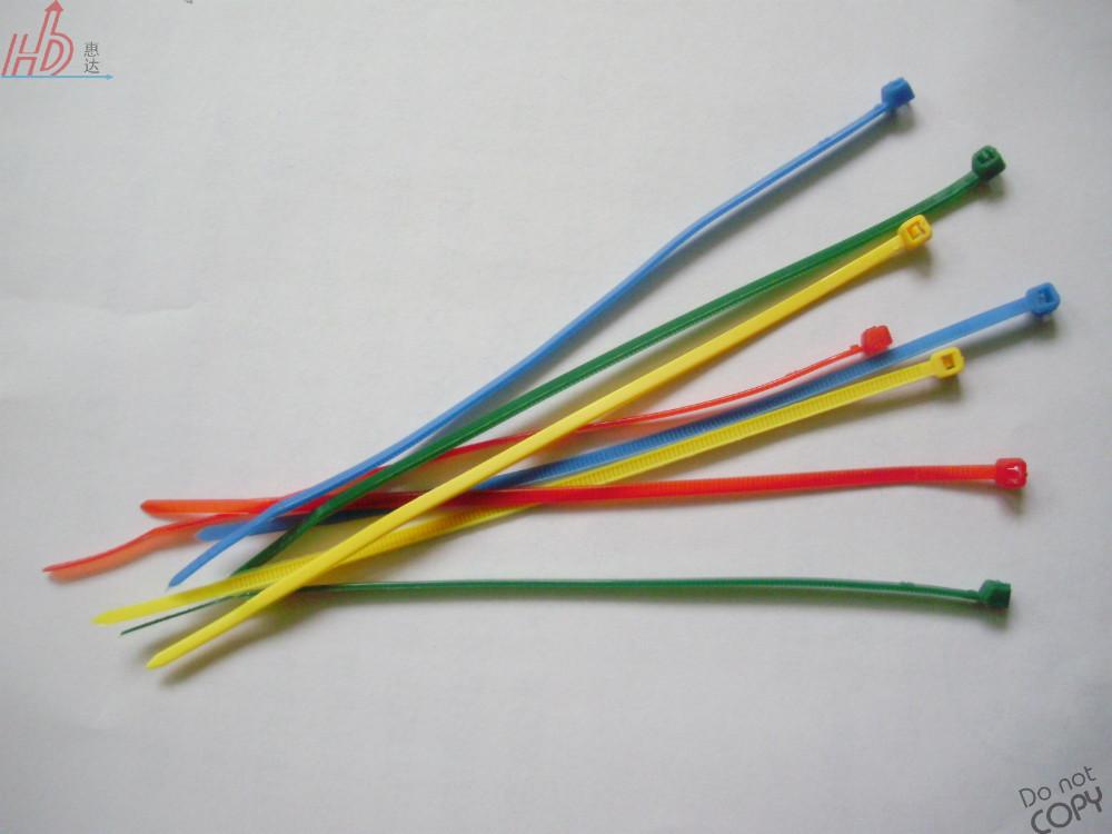 4 18lbs3*100mm Plastic Nylon Cable Wire Zip Ties Bundle Black Self ...