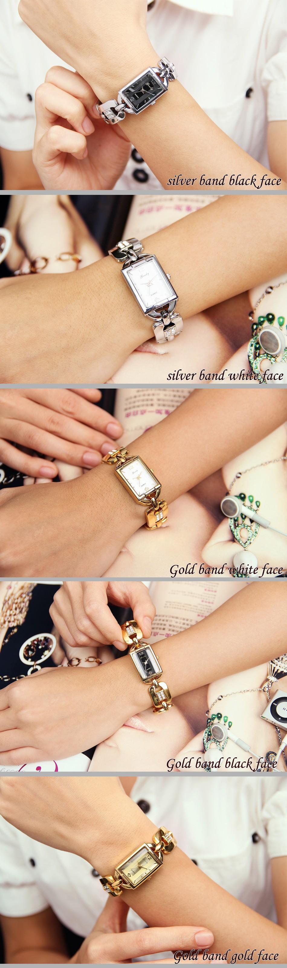 Серебряные часы женщины диаманта rhinestone наручные часы марка женщины 2016 новая мода прибытие бесплатная доставка relogio feminino