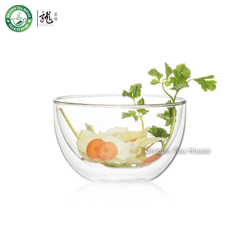Double Wall Clear Glass Tea Bowl Chawan 500ml 17oz (L)(China (Mainland))