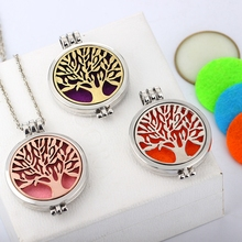 Buy FUNIQUE Hollow Tree Life Essential Oils Diffuser Aromatherapy Locket Necklace Perfume Locket Cage Necklaces Gift Free Pads for $2.24 in AliExpress store