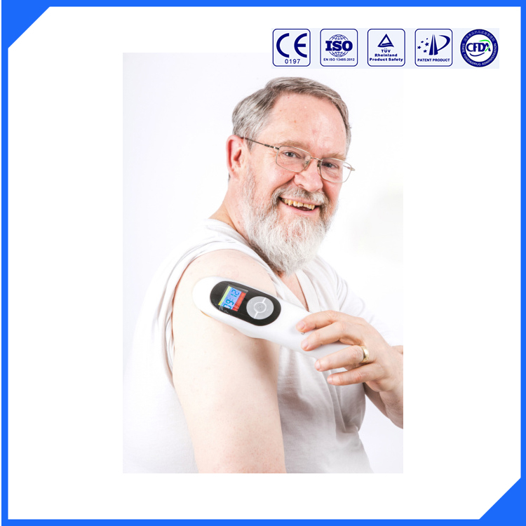 808nm and 650nm medical infrared light rehabilitation equipment pain treatment laser cold laser handheld(China (Mainland))