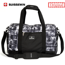 Suissewin Camouflage Men's Travel Bag Fashion Swiss Army Green Handbag Male Big Shoulder Bag Duffel Bag for Business travel(China (Mainland))