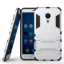 Fashion Cool 2 In 1 PC+TPU Hard Stand Holder Cover Case For Meizu MX5 Covers Cases Mobil Phone Accessories