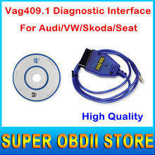 2016 nueva VAG Com Vagcom Vag409 KKL USB OBD2 Cable de diagnóstico VAG-COM 409.1 de VAG 409 de VAG 409.1 conector coche soporte Dual líneas k(China (Mainland))