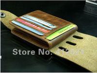 во всем мире дизайн мужской кошелек & тонкой кожи Топ центр двойные кошелек бренда сетки для мужчин бумажник