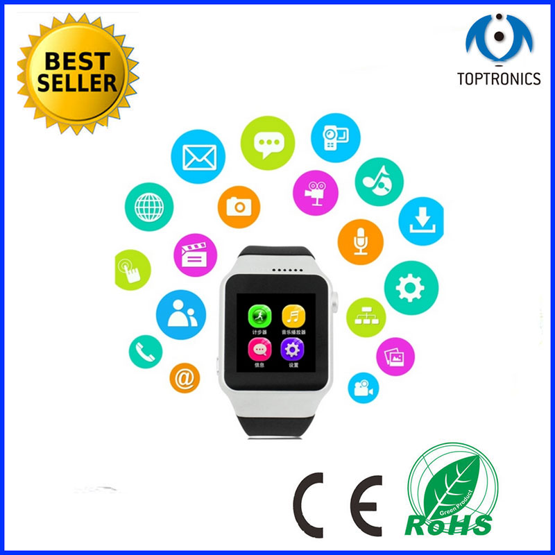 2015 China MTK6260 bluetooth android mobile phone watch smartwatch with camera smart watch phone with micro sim card(China (Mainland))