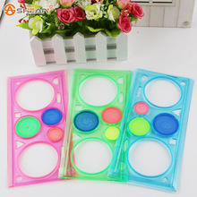 3pcs/Lot Hot Multifunctional Puzzle Spirograph Creative Fun Drawing Board Ruler Kids Educational Stationery(China (Mainland))