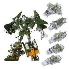 Original 5 in 1 Combine Transformation Robot Military fighter Plane Model Helicopter Alloy Toys for Children Boys Gift(China (Mainland))