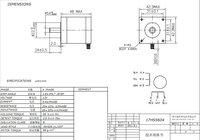 Шаговый двигатель ACT MOTOR 4AXIS Nema17stepper 17HS5604 38n.cm0.4a