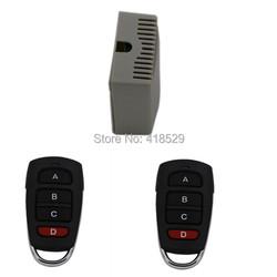DC 12V 4 CH Switch, 4CH RF Wireless Remote Control Switch System,2 X Transmitter + 1 Receiver,315/433MHZ,150meter SKU: 5019