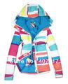 Gsou snow Qualit t waren regenbogen quadratischen boxen skijacke m nner skibekleidung wasserdicht atmungsaktiv warme