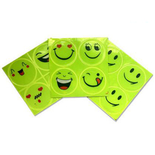 Reflective safety sticker smile face for motorcycle,bicycle,kids toy,any where for visible safety(China (Mainland))