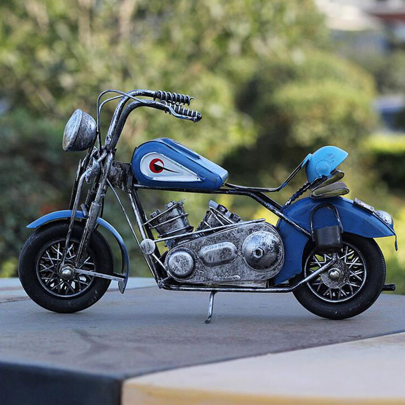 Hand-wrought iron motorcycle model / home decoration furnishing articles creative gifts(China (Mainland))