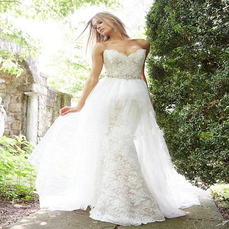 Zz60 top selling detachable train wedding dress 2016 off for Detachable train wedding dresses