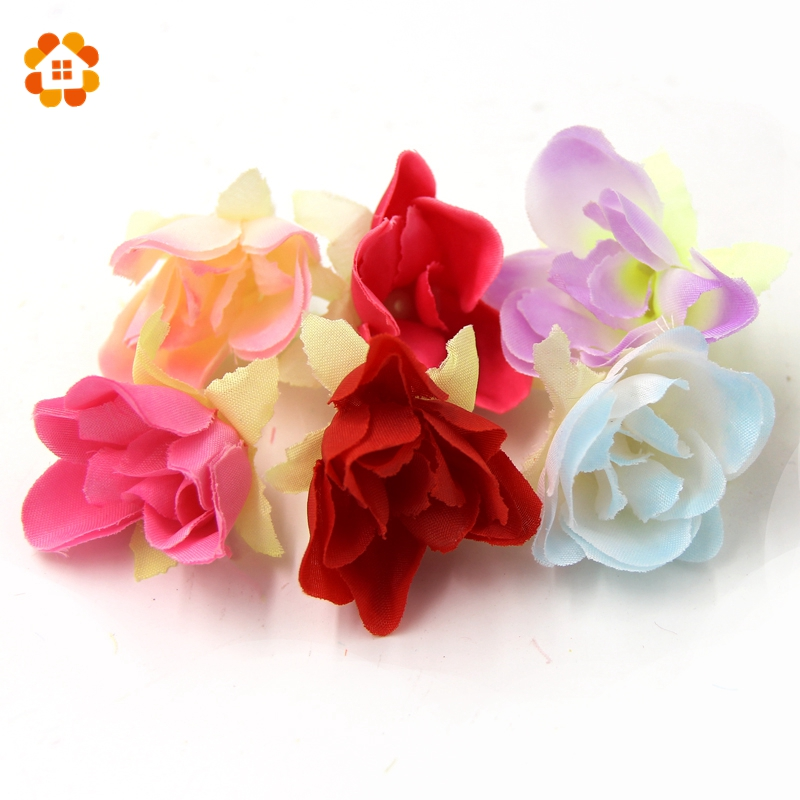 20 PCS DIY Silk Flower Wedding Car Decoration Spring Decoration Home Decorations For Wedding Wedding Decoration Wreaths