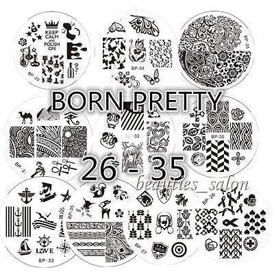 Hot 10Pcs/Set BP 26-35 Nail Art Stamp Template Image Stamping Plates#17927<br><br>Aliexpress