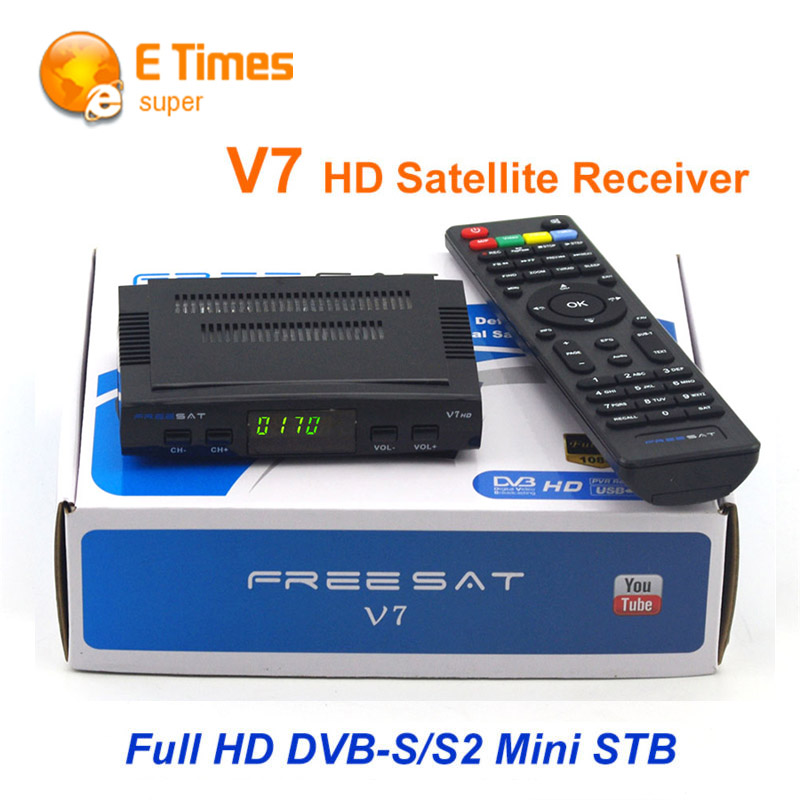 Original DVB-S2 Freesat V7 HD Satellite TV Receiver Support PowerVu Biss Key Cccamd Newcamd Youtube Youporn USB Wifi Set Top Box(China (Mainland))
