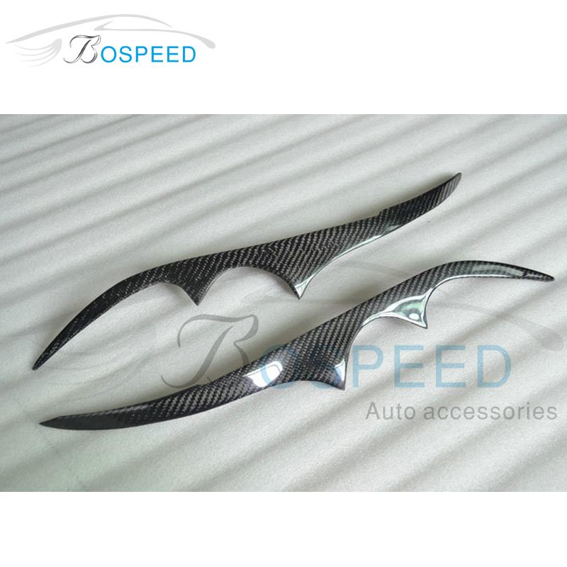 Carbon Fiber Car Eyelid Auto Headlight Lamp Cover Eyebrow Fit for Subaru Legacy 2006-2008(China (Mainland))