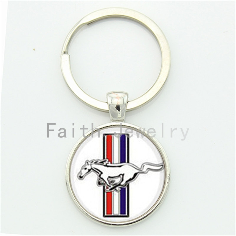Charm ford mustang key chain classic simple dynamic design full of youthful vitality elegant modern style keychain jewelry KC171(China (Mainland))