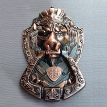 Red Copper Color Antique Chinese Yuan Fu lion head door handle knocker handle unicorn beast(China (Mainland))