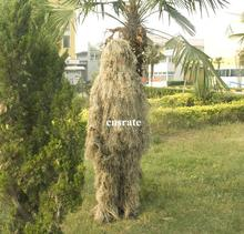 Grass Style Desert Camo Ghillie Suit CS Camouflage Suit Hunting Clothes with hooded Jacket Pant(China (Mainland))