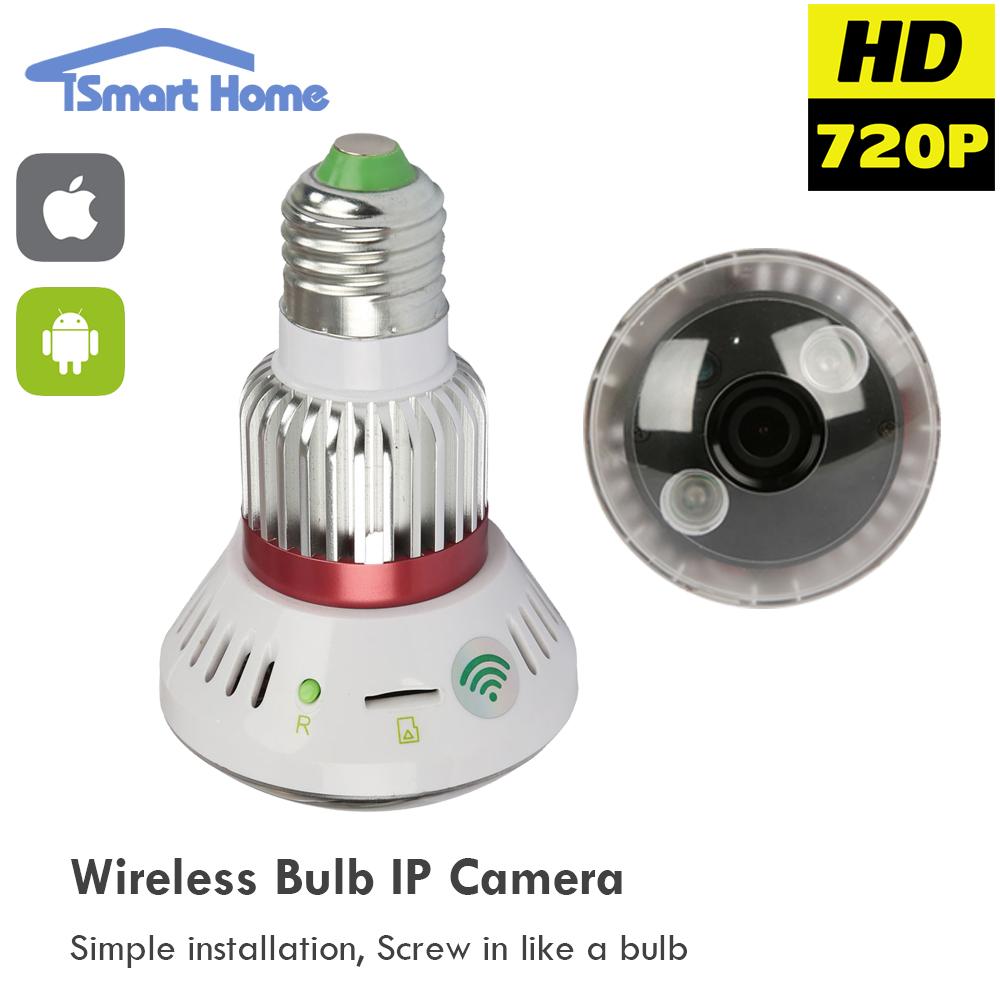 720P Mini Micro Wireless Wifi IP Camera P2P IP Bulb Pinhole Camera Network CCTV Surveillance Home Protection Mobile Remote Cam(China (Mainland))