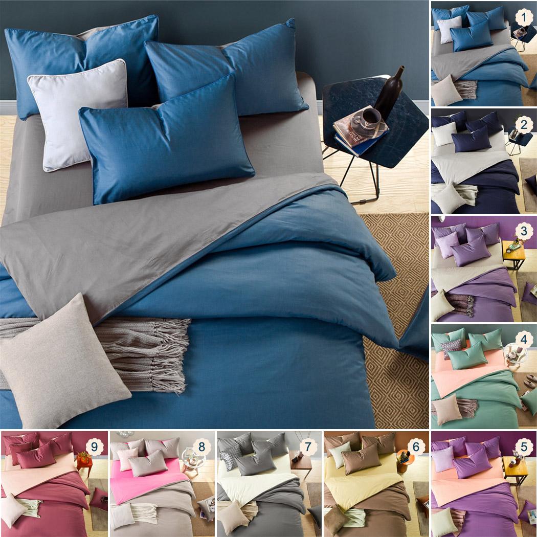 COXEER Bedding set 4 Piece Cotton Bed Sheet Set Comforter Set(Purple & Light Pink, 1.5M/1.8M)(China (Mainland))