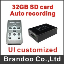 1 channel SD card camera,xbox DVR with black color,D1 auto recording DVR,SD recorder with 32GB memory