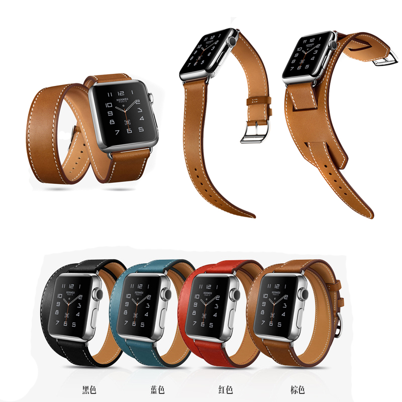HOCO Cuff Single/ Double Tour wraps for apple watch band extra-long high quality genuine Vintage Leather loop 3 types in 1 set<br><br>Aliexpress