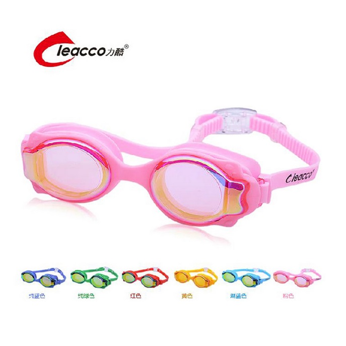 Kid children Electroplate Anti-fog UV Protection Swim Eyewear HD silicone Waterproof lovely Swimming Goggles Glasses Eyeglasses(China (Mainland))