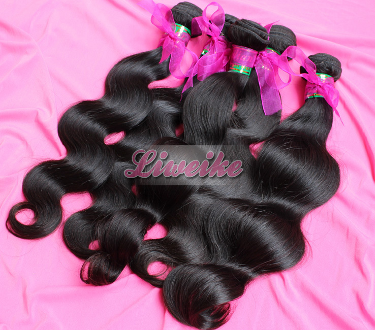 Liweike hair products body wave virgin brazilian hair weave wholesale price per KG DHL free shipping