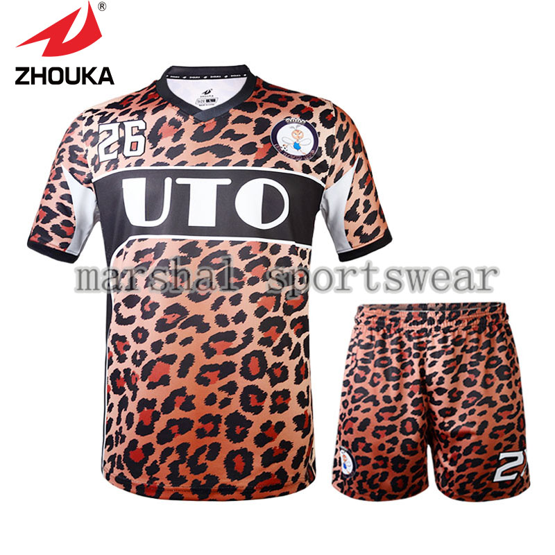 Hot Sale zhouka full sublimation soccer uniforms in high quality for men(China (Mainland))