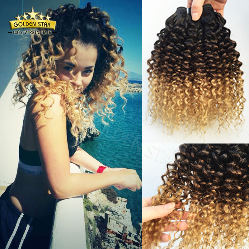 Newness Indian Remy Ombre Deep Wave Hair Extensions 3Bundles Three Tone Beauty 8A Indian Deep Curly Human Hair Weave Tangle Free<br><br>Aliexpress