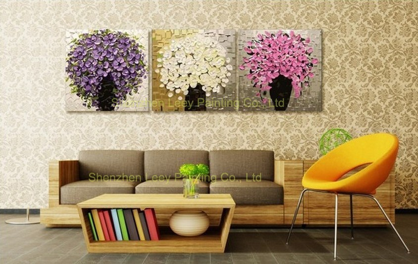 Buy 2016 Home Decor Promotion Wall Pictures for Living Room Top Quality Knife Oil Painting On Canvas Modern Wall Art free Shipping cheap