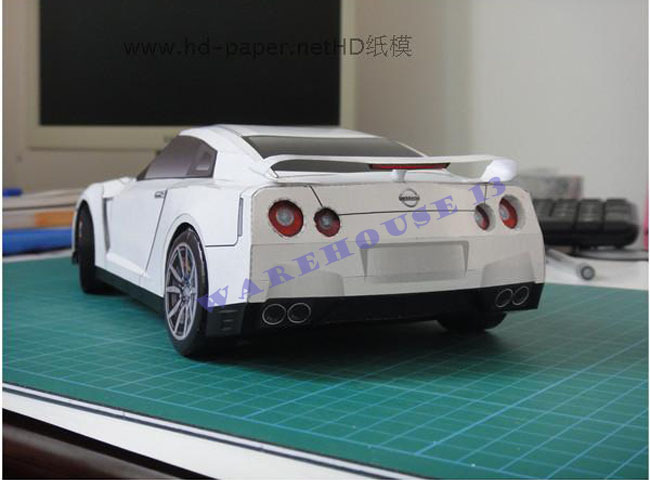 2019 2015 New Products 3d Paper Models Car Nissan Gt R
